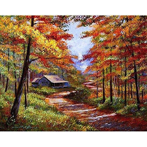 Pintura por números para adultos niños DIY pintura al óleo pintada a mano paisaje pintura decoración del hogar A15 45x60cm