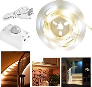 Motion Activated Rechargeable Bed Light, Under Cabinet Lighting Flexible LED Strip Sensor Automatic Night Light for Kid Bedroom,Cabinet Closet,Kitchen Counter,Laundry