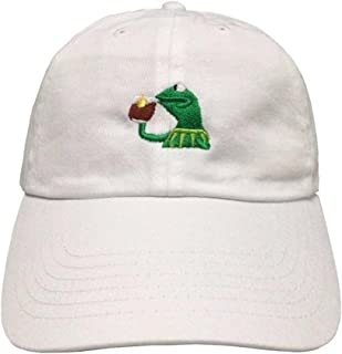 Marthasky Kermit The Frog Sipping Tea Adjustable Strapback Cap
