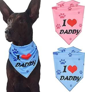 Ggkidsfunpet Father's Day Dog Bandanas Triangle Bibs Scarf Accessories