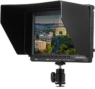 Feelworld FW74K ビデオカメラ 7'' HD IPS 液晶モニター 1280 * 800 HDMI 4K UHD 3840 * 2160p(29.97/25/23.98) をサポートする バッテリーバックルプレート付きパナソニック...