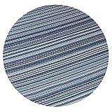RM Design Indoor & Outdoor Teppich für Terrasse, Balkon & Haus, Blau Gestreift Muster, 90 x 180 cm - 2