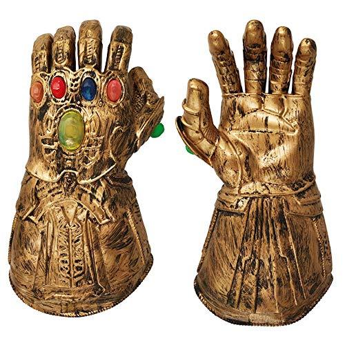 Avengers 4 Endgame / 3 Infinity War Thanos Guantes De Guantelete Piedras Luminosas LED Iluminan PVC Disfraz De Silicio Accesorios De Cosplay