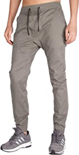 ITALY MORN Men's Chino Jogger Casual Pants Khakis Jogging Slim Fit Elastic Waistband