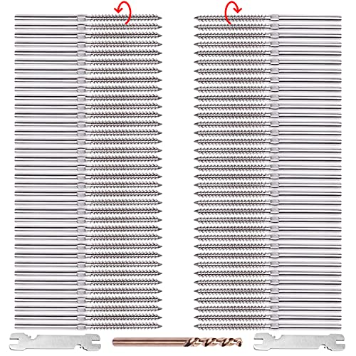 CKE Upgraded 72 Pack Swage Lag Screws Left & Right for 1/8
