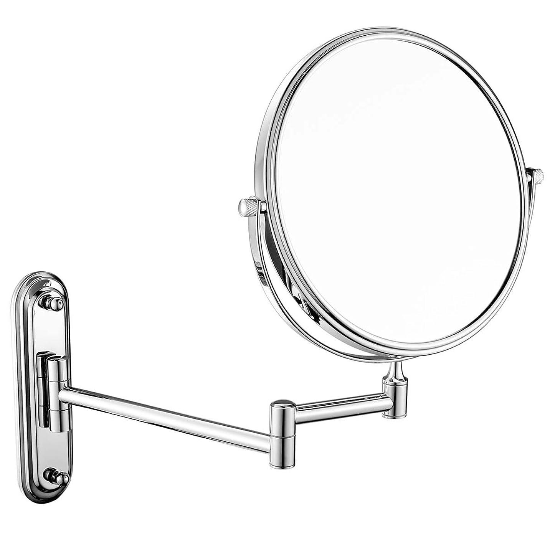 ペリスコープ巨大接ぎ木壁掛け化粧鏡、浴室折りたたみクリエイティブ拡大化粧鏡、シェービングミラー (Design : 7X, Size : 6inch)