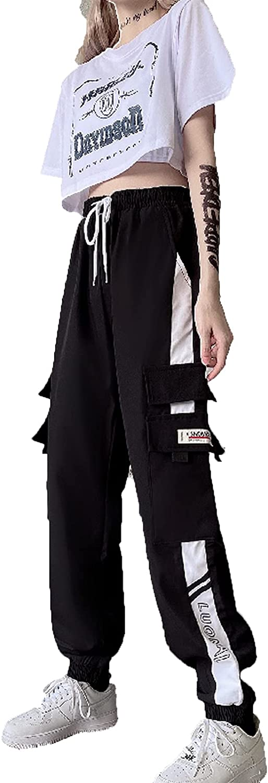 2 Pieces Set Summer Women Casual Cargo Pants Suit Set Streetwear Outfit T-Shirt Short Sleeve Women Trousers Set