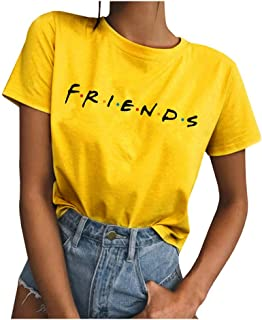 Qrupoad Womens TV Show T Shirts Summer Casual Short Sleeve Graphic Shirt Tees Tops