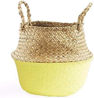 MJY Panier corbeille de rangement en osier tricoté dans un panier de rangement pour le panier de fleurs, panier de rangeme...