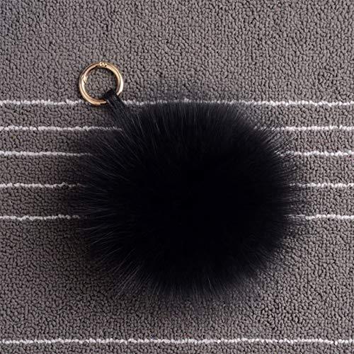 WAWAYU Colgante Llavero, Bolsa de Piel Artificial Accesorios Colgantes Llavero Teléfono Teléfono Colgante Peluche Fluffy Ball (Color : E)