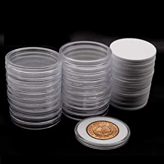20 Pcs Clear Plastic Coin Capsules, Coin Collection Case of 5 Size with Adjustable Gasket for Coin Collection Morgan Silver Dollar& Civil War Era Two-Cent Piece Coin | 18/23/28/33/38mm
