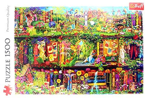 Trefl TR26165 Die märchenhafte Bibliothek 1500 Teile, Premium Quality, für Erwachsene und Kinder ab 12 Jahren Puzzle, Mehrfarbig