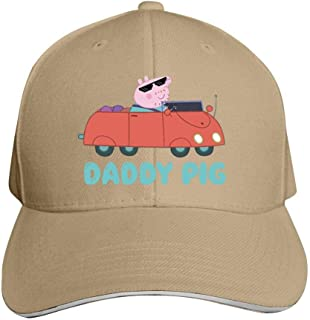 Daddy Pig Char-acter from Pep-pa Pig Tv Show Unisex Adult Outdoor Cap Adjustable Cowboys Hats Baseball Cap