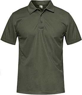 MAGCOMSEN Men's Breathable Quick Dry Golf Polo Shirt Summer Outdoor Lightweight Short Sleeved Shirts
