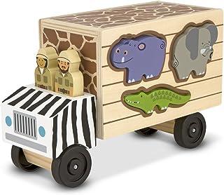 Melissa & Doug Safari Animal Rescue Truck | Träfordon & Tränar | Trucks & Bilar | 2 | Present till pojke eller flicka