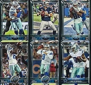 Dallas Cowboys 2015 Topps NFL Football Complete Regular Issue 24 Card Team Set Including Tony Romo, Dez Bryant Plus