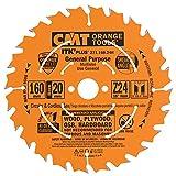 CMT 271.160.24H Lama Circolare Itk-Plus per Taglio Lungo e Traverso Vena, Arancio
