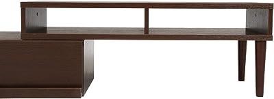 不二貿易 テレビ台 ローボード 幅105-200cm ダークブラウン 伸縮タイプ 完成品 97613
