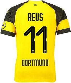 17857236a1d Lujfhd Mens Dortmund Reus Home Soccer Jersey 18-19 11 Football Jersey  Yellow(