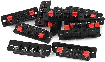 Yootop 10Pcs 4 Ways Spring Clip Audio Speaker Terminals Red Black Push Release Connector