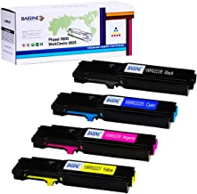 BAISINE Compatible Phaser 6600 Toner Cartridge for Xerox Phaser 6600 & WorkCentre 6605 Printer Ink - Extra High Yield 6,000 Pages - 106R02228 106R02225 106R02226 106R02227 Toner (4-Pack)