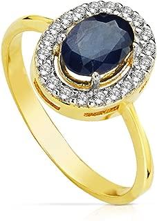 18k Or Jaune Plaqué magnifique bijoux Blanc Saphir Bague de mariage Taille 6-10