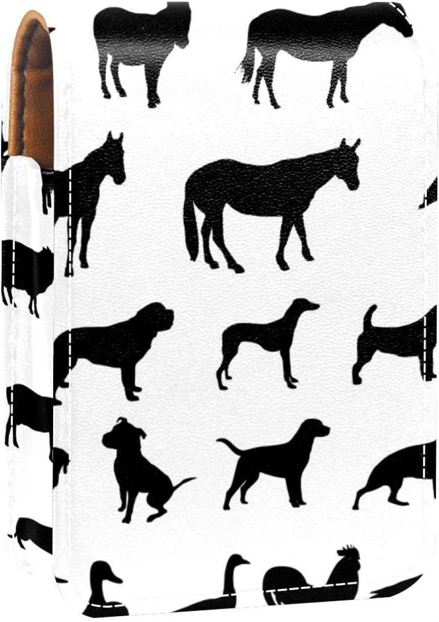 Lipstick Case Farm Animals Be super welcome New life Prints Silhouette Holde Mini