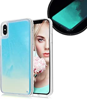 Losin Fluorescent Case Compatible with Apple iPhone 6 Plus/iPhone 6S Plus 5.5 Inch Case Luxury Glow in The Darkness Noctiluncent Liquid Luminous Sand Hard PC + Soft TPU Fluorescent Case