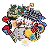 Wlkq Wappen-09 Embroidered Patch Accessories Assorted Size DIY Patches Sew On/Iron On Patches Applique for Jackets Jeans Pants Backpacks Clothes 22Pcs (Wappen-09-22Pcs)