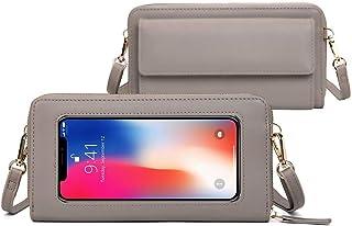 Touch Screen Phone Purse for women RFID Blocking CrossbodyCell Phone Purse Wristlet wallet Shoulder Handbag Small Phone Bag
