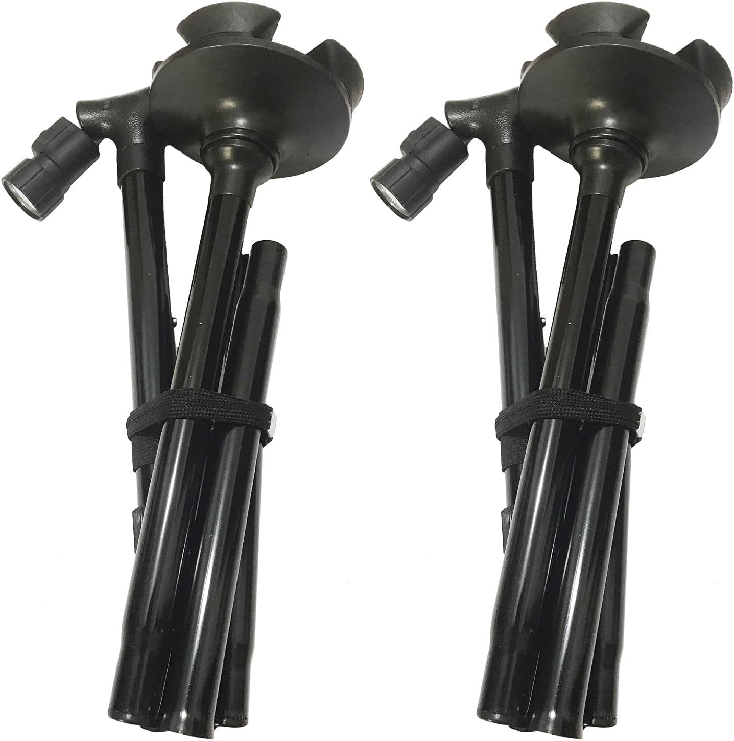 2-Pack Folding Quad All stores are sold Louisville-Jefferson County Mall Cane Black LE Walking Adjustable Stick with