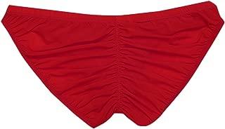 Men Silky Bikini Bulge Pouch Stretchy Ruched Back Smooth Underwear Swimwear Briefs