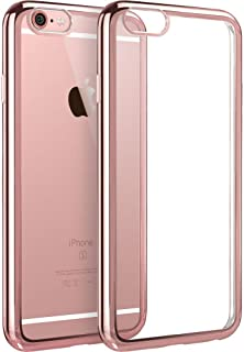 esr iPhone 6 Plus Case/iPhone 6s Plus Case, iPhone 6 Plus Ultra Thin Soft Gel TPU Silicone Case Cover with Electroplate Frame for 5.5 Inches iPhone 6 Plus/6s Plus (Rose Gold)
