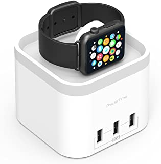 mbeat Powertime Magnetic Charging Dock with 3 Extra Smart USB Charging Ports Apple Watch - White
