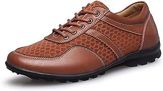Shoes 靴 男性 運転 ローファー フラットヒール レースアップ ソリッドカラー おしゃれな シューズ Comfortable (Color : カーキ, サイズ : 24 CM)