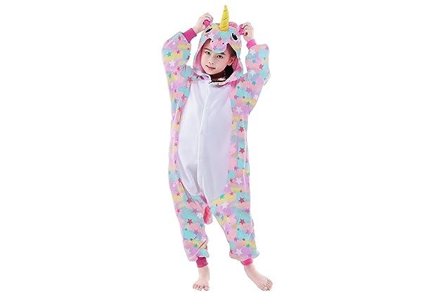 512e0f944 Amazon.com: NEWCOSPLAY Onesie Unisex Kids Unicorn Cosplay Animal Pajamas  Costume: Clothing