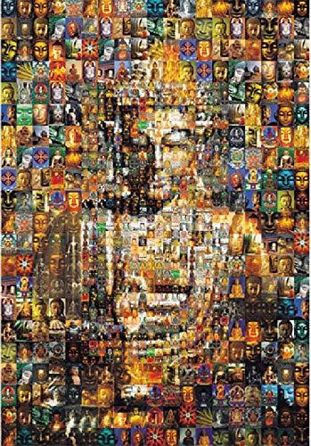 Kunyuancb Puzzlespiele für Erwachsene, 1000 Puzzleteile, bunter Buddha, handgefertigte DIY-Anpassung, einzigartige