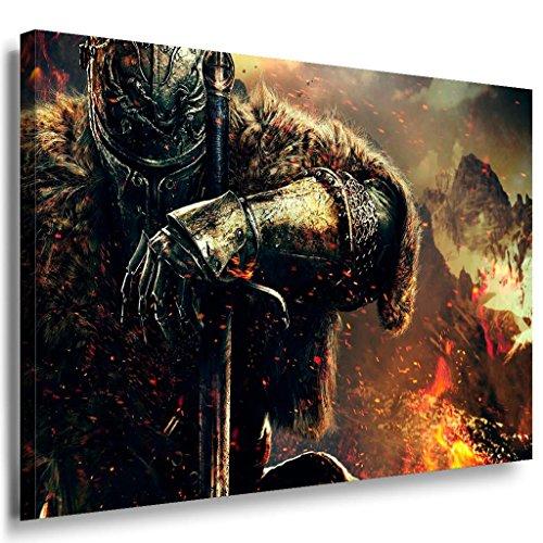 Dark Souls Game Leinwandbild / LaraArt Bilder / Leinwand Bild + Mehrfarbig + Kunstdruck g03-1 Wandbild 40 x 30 cm