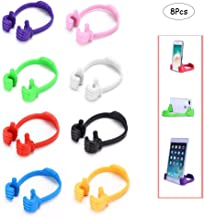 Ximimark Newly Universal Thumb Up Mobile Phone Stand Holder Bracket Mount For Cellphone,8 Pcs,Pink,Orange,Green,White,Purple,Black,Blue,Red