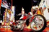 XXL Poster 'Fahrer in der Nacht', Fotodruck