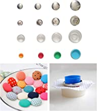 JUSTDOLIFE 30 Sets Covered Button Kits DIY Button Craft Kits with 3 Set Assembly Tools