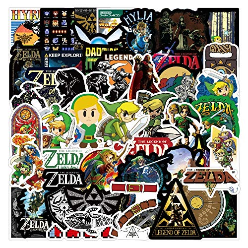 XINQIANG Anime Stickers 15Pcs Legend of Zelda Anime Icon Animal Cute Decals Guitar Fridge Bicycle Stickers Gifts for Children To Laptop Suitcase