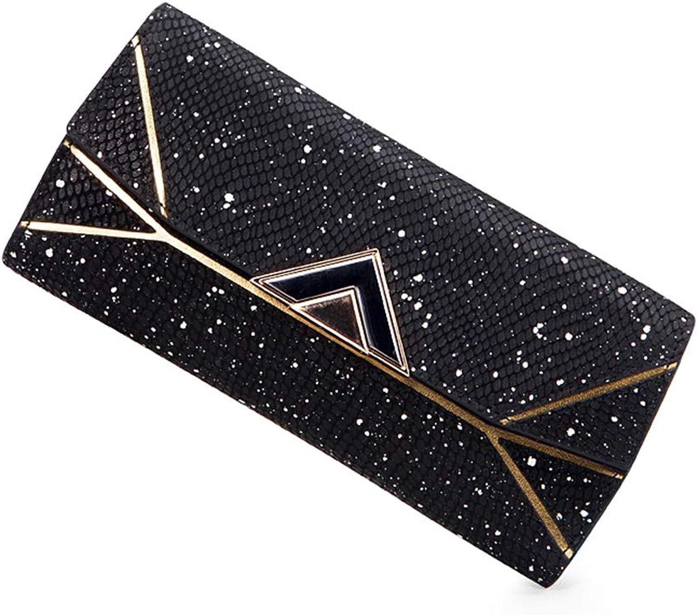 Wallets Wallet Gift Long Wallet Female 2018 New Clutch Bag Pu Female Wallet Multifunction Wallet (color   Black, Size   19.5  10  2cm)