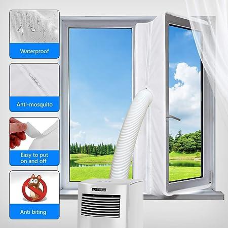 Hot Air Stop zum Anbringen an Fenster Dachfenster 500CM Ablufttrockner Fl/ügelfenster Klimaanlagen KIRNER Fensterabdichtung f/ür mobile Klimager/äte W/äschetrockner
