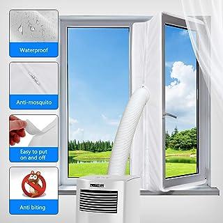 Aozzy Fensterabdichtung für Mobile Klimageräte und Ablufttrockner, AirLock 100 klimaanlagen fensterabdichtung, Hot Air Stop zum Anbringen an Fenster, Dachfenster Fenster 400CM, Weiß