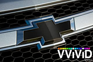 VViViD XPO Matte Black Chevy Bowtie Logo Wrap Kit (Extra-Wide Roll (17.75 Inch x 60 Inch))