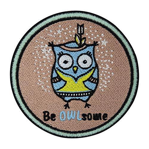 Be OWLsome Eule Patch zum Aufbügeln | Lustige Patches, Witzige Tier Bügelflicken, Vogel Tiere Flicken, Aufnäher Finally Home