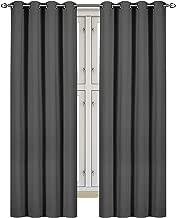 "Utopia Bedding [2 Panels] Blackout Room Darkening Curtains - Window Curtains/Panels/Drapes - (W 46"" x L 72"", Grey) 8 Grommets per Panel - 2 Tie Backs"