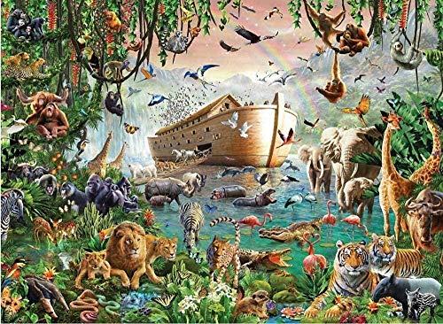 zhybac Puzzle 1000 pieces - Animals Noahs Ark - DIY adult child leisure collectibles entertainment decompression classic home decor gift 70 x 50cm