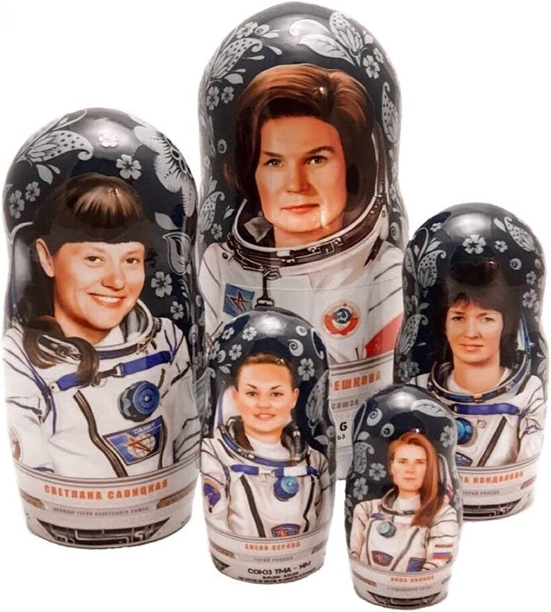 Original Nesting Doll from Directly managed store Cosmos Women-Astronauts 2021 autumn and winter new Matryoshka